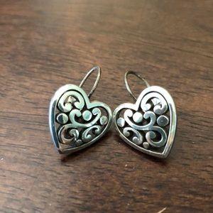 Brighton heart lever back earrings